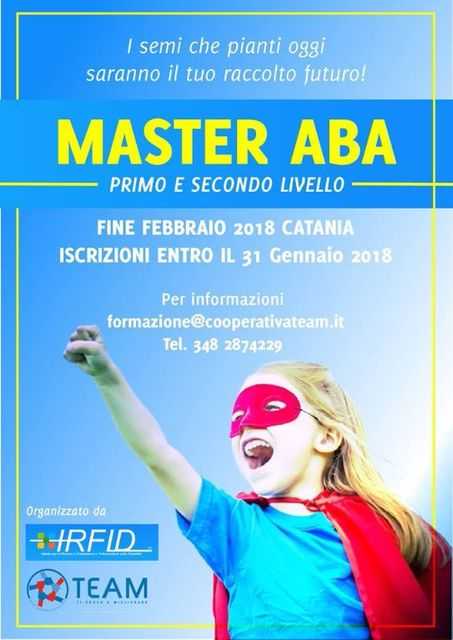 MASTER-DI-I°-e-II°-LIVELLO-Applied-Behavior-Analysis-e-Intervento-Comportamentale-Intensivo-e-Precoce-per-l'Autismo-Sede-di-CATANIA-ed.-2018